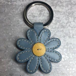 """Coach flower keychain w/ button stitch 1.75""""w x 3"""""""